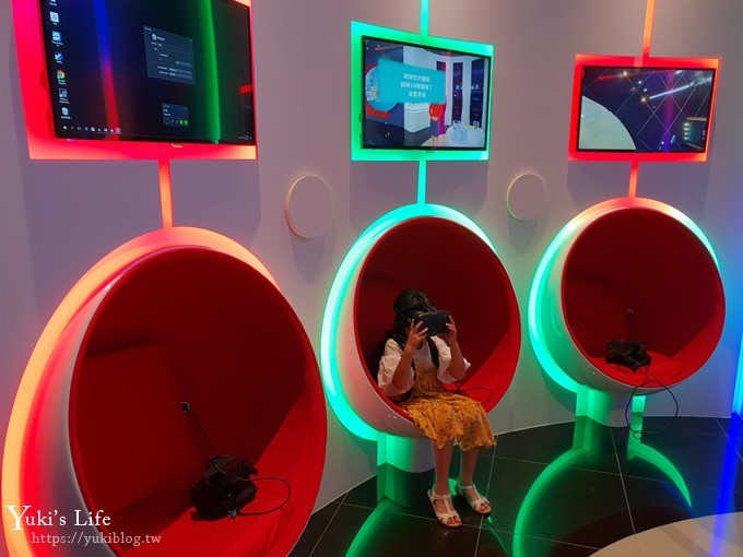台北免費親子景點【中國信託金融園區】360度全景LED數位互動裝置×文薈館(行動速克達、創新體驗區)南港軟體園區站 - yukiblog.tw