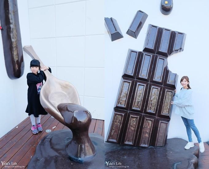 南投埔里《18度C巧克力工房》巨型巧克力拍照打卡點×日系巧克力村玻璃屋下午茶 - yukiblog.tw