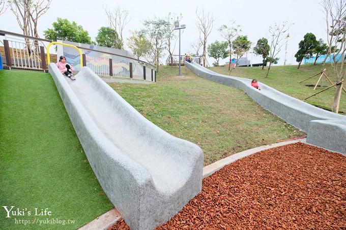 免費桃園親子景點【風禾公園】50公尺滾輪溜滑梯兒童冒險公園×7座溜滑梯加沙坑 - yukiblog.tw