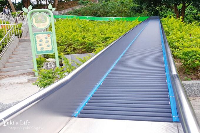 新北親子景點【魔豆山丘遊戲場】28公尺滾輪溜滑梯、戲水區~公園野餐好去處 - yukiblog.tw