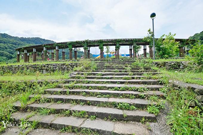 台北特色公園【山水綠小樂園】雙道溜索超刺激!草皮野餐玩沙趣 - yukiblog.tw