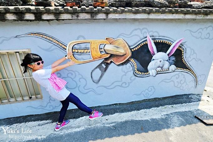 雲林免費親子景點《萡子寮喔熊藝術村》凹雕轉頭佛祖×神仙3D4D彩繪×彌勒達摩雙面畫 - yukiblog.tw
