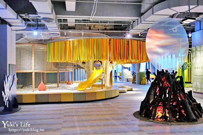 台南親子景點《南科考古館》這裡有球池兒童廳可以玩!繪本風拍照打卡點!