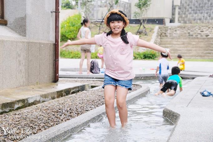 親子玩水新景點《新竹水道取水口展示館》戶外磨石子溜滑梯×戲水池×館內也有看頭!