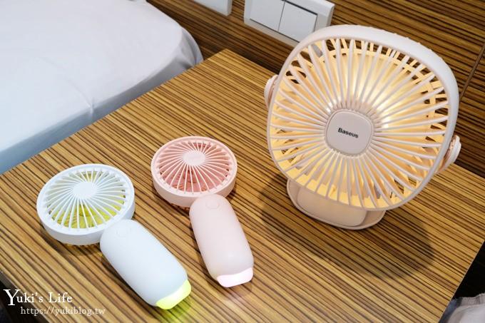 涼夏推薦優惠團》Baseus螢火蟲小風扇×360度旋轉夜燈夾式風扇 - yukiblog.tw