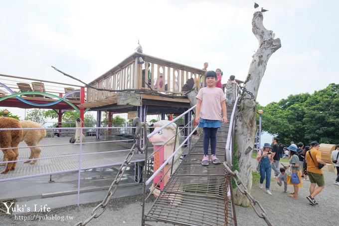 南投親子景點【星月天空夜景景觀餐廳】草泥馬×U型溜滑梯×鸚鵡秀表演 - yukiblog.tw