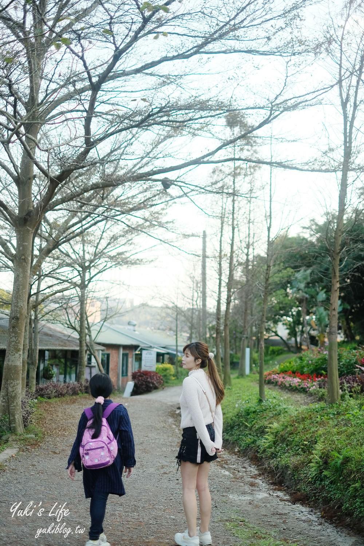 桃園親子景點【春天農場】異國風情浪漫森林~餵動物、落羽松、賞櫻花、烤肉、好吃麵包下午茶 - yukiblog.tw