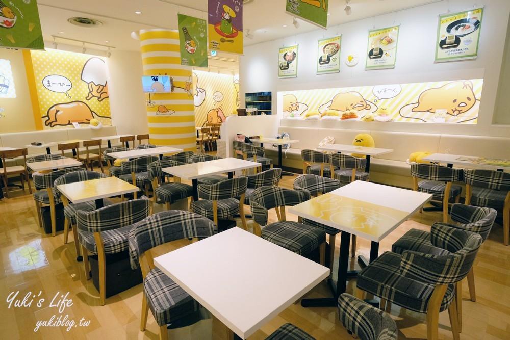 大阪梅田┃蛋黃哥主題餐廳┃HEP FIVE療癒系美食咖啡廳(已停業) - yukiblog.tw