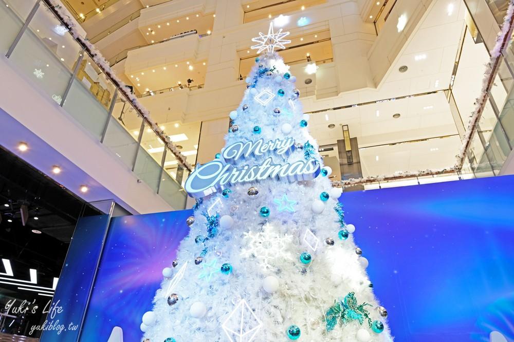 2020桃園台茂耶誕嘉年華》2層樓高聖誕樹下雪極光秀!吃喝玩樂親子遊就來這裡! - yukiblog.tw