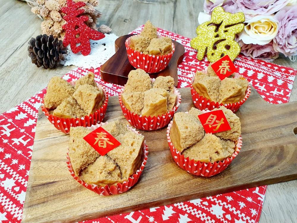 黑糖发糕食谱》亲子DIY只要4种材料,快速又好吃!过年必学! - yukiblog.tw