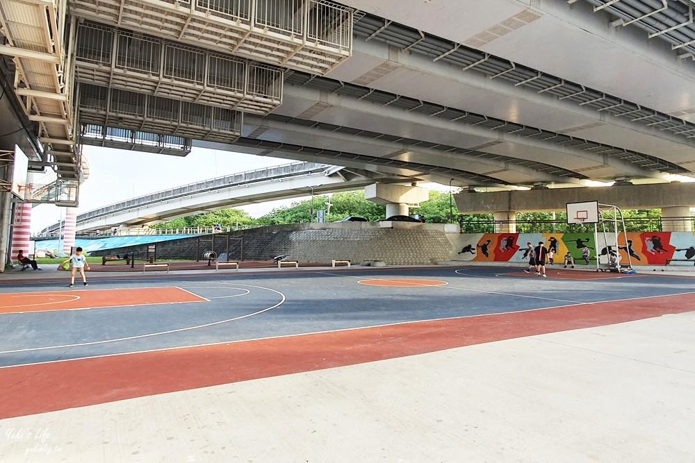 台北士林亲子景点》日光水岸广场~社子大桥下游戏场,免晒太阳特色公园(有停车场) - yukiblog.tw
