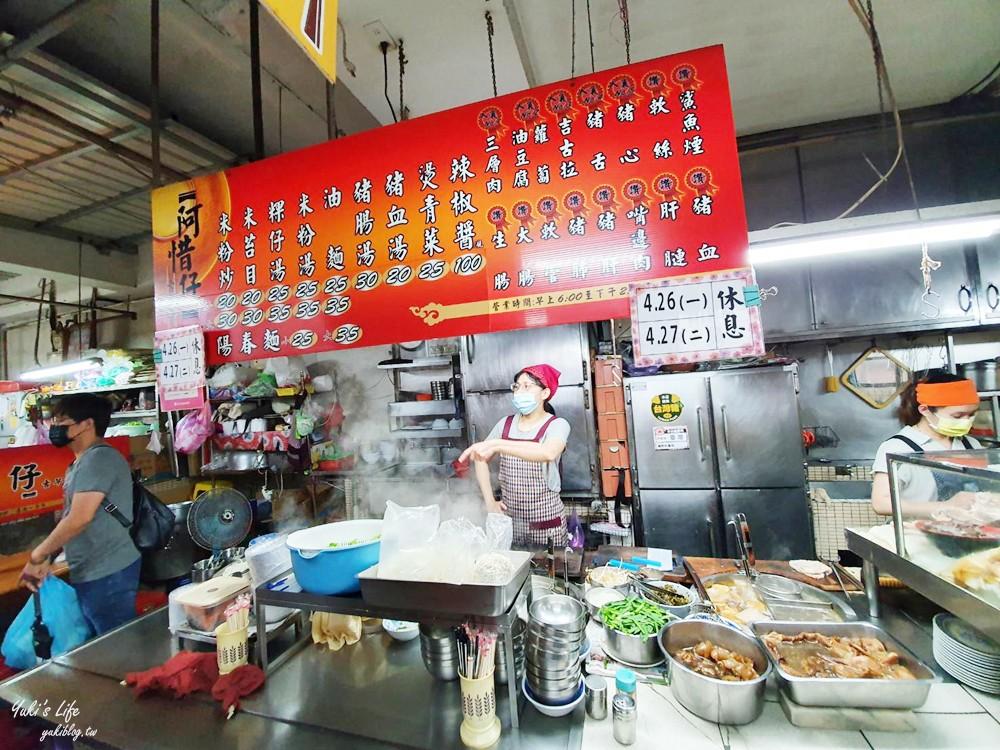 阿惜仔古早味米粉湯A54~在地人推薦銅板小吃、仁愛市場必吃早餐!(菜單、停車場) - yukiblog.tw