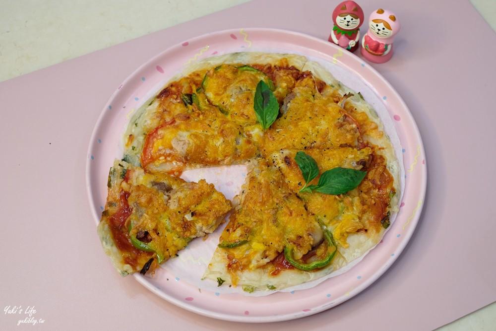 簡單食譜》蔥油餅pizza~親子DIY快速又好吃!不用揉麵團好方便! - yukiblog.tw