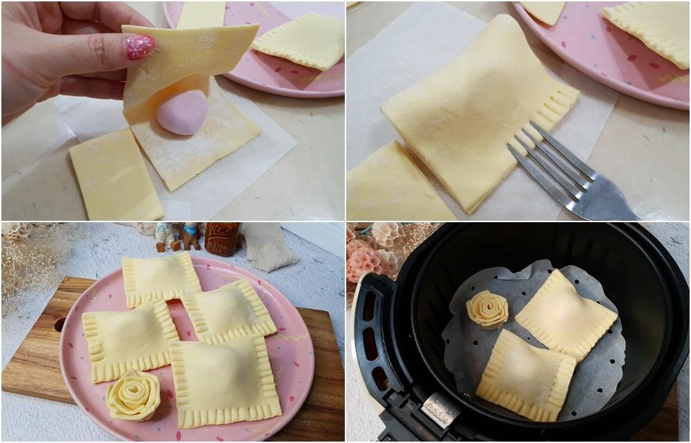 簡單食譜》用起酥皮做5款零失敗點心!蝴蝶酥、玫瑰花蘋果派、杏仁千層酥、鮪魚起司派、酥皮湯圓 - yukiblog.tw