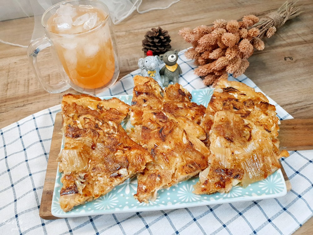 簡單食譜》韓式泡菜豬肉煎餅~酥脆版就要加這個粉!用高麗菜取代韮菜! - yukiblog.tw