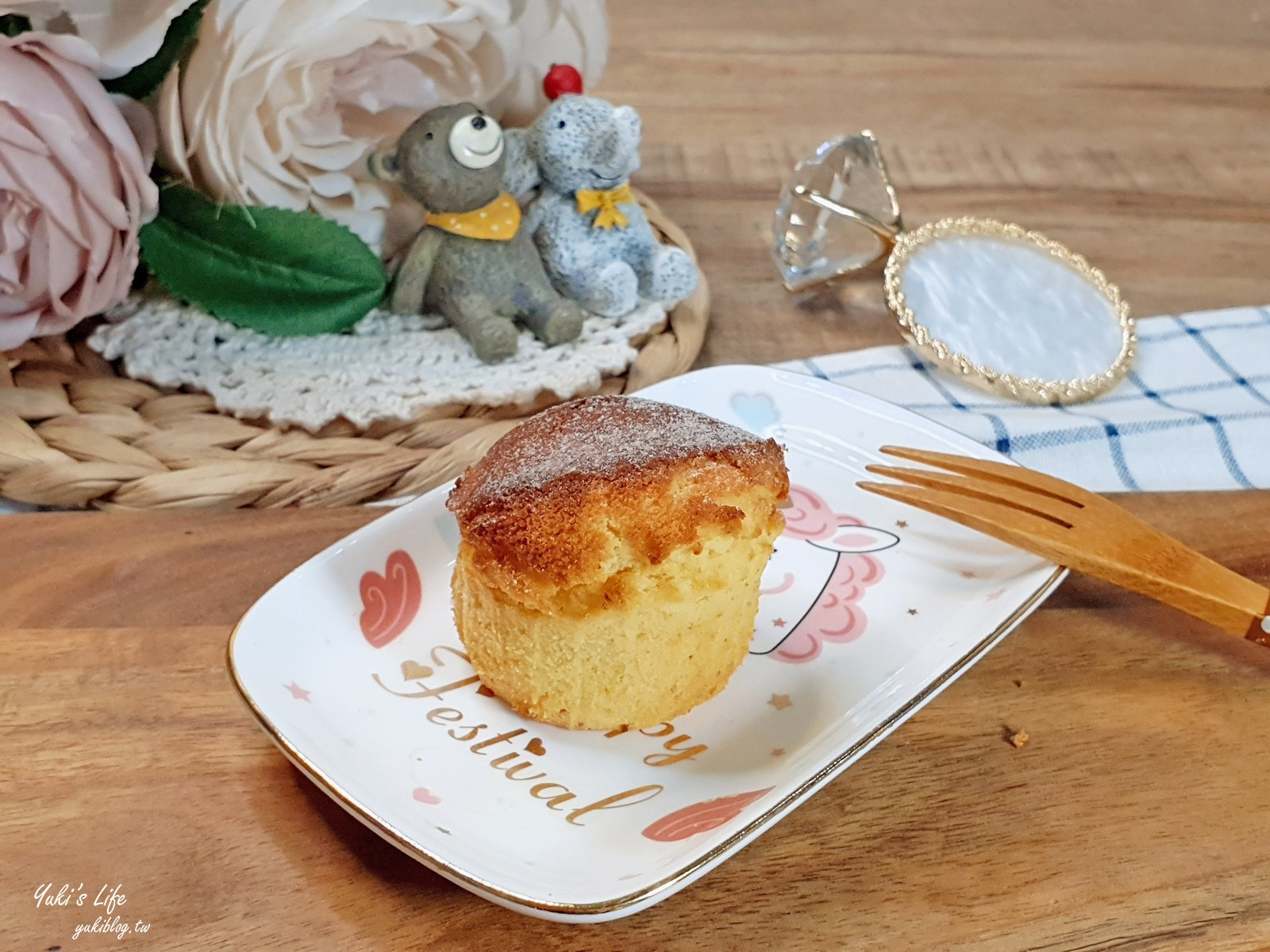 氣炸鍋簡單食譜》鬆餅粉蛋糕~原來鬆餅粉可以做蛋糕!一起親子DIY - yukiblog.tw