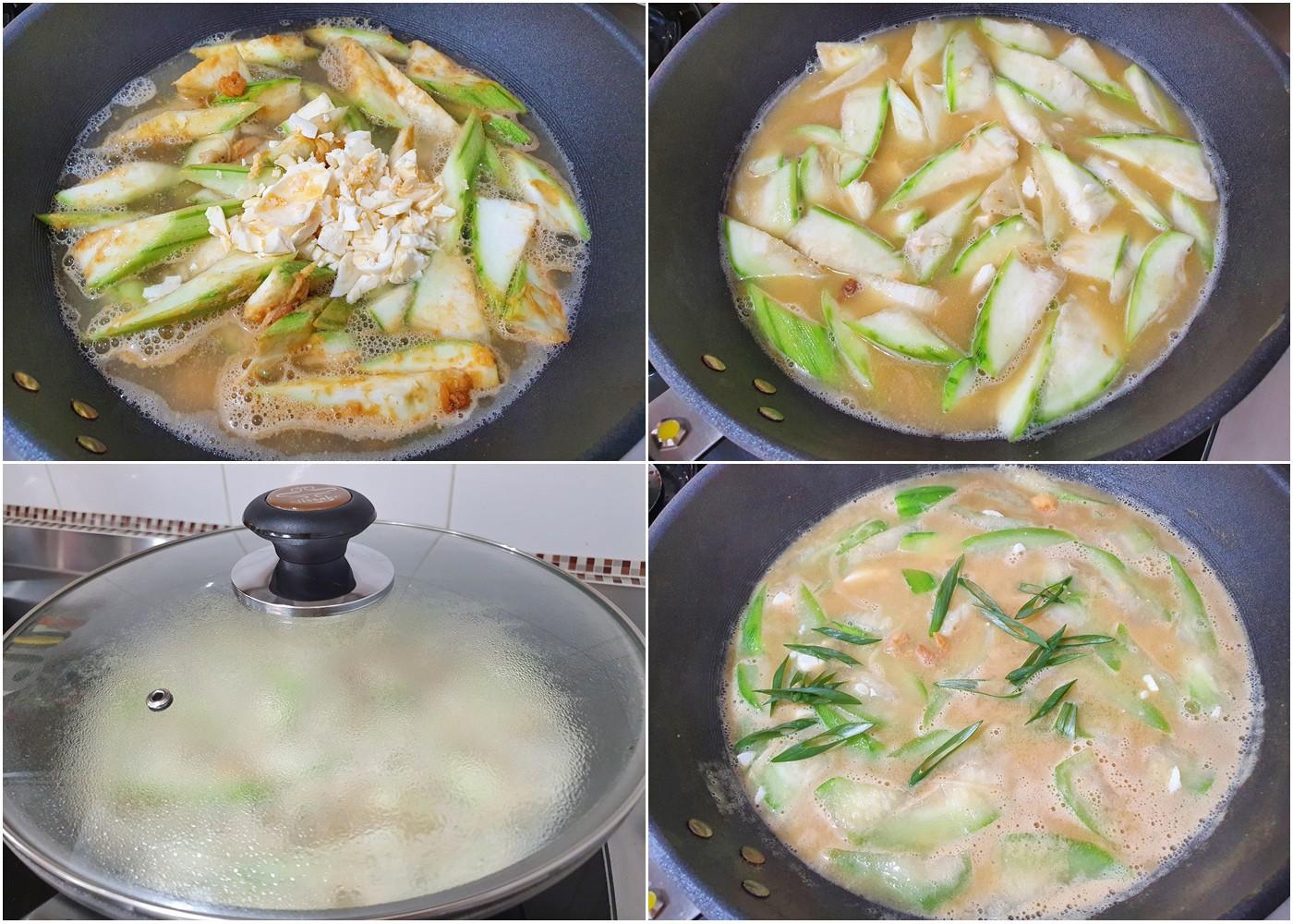簡單食譜》金沙絲瓜麵線(鹹蛋絲瓜麵線)古早味湯頭好濃郁,30分鐘開飯了! - yukiblog.tw