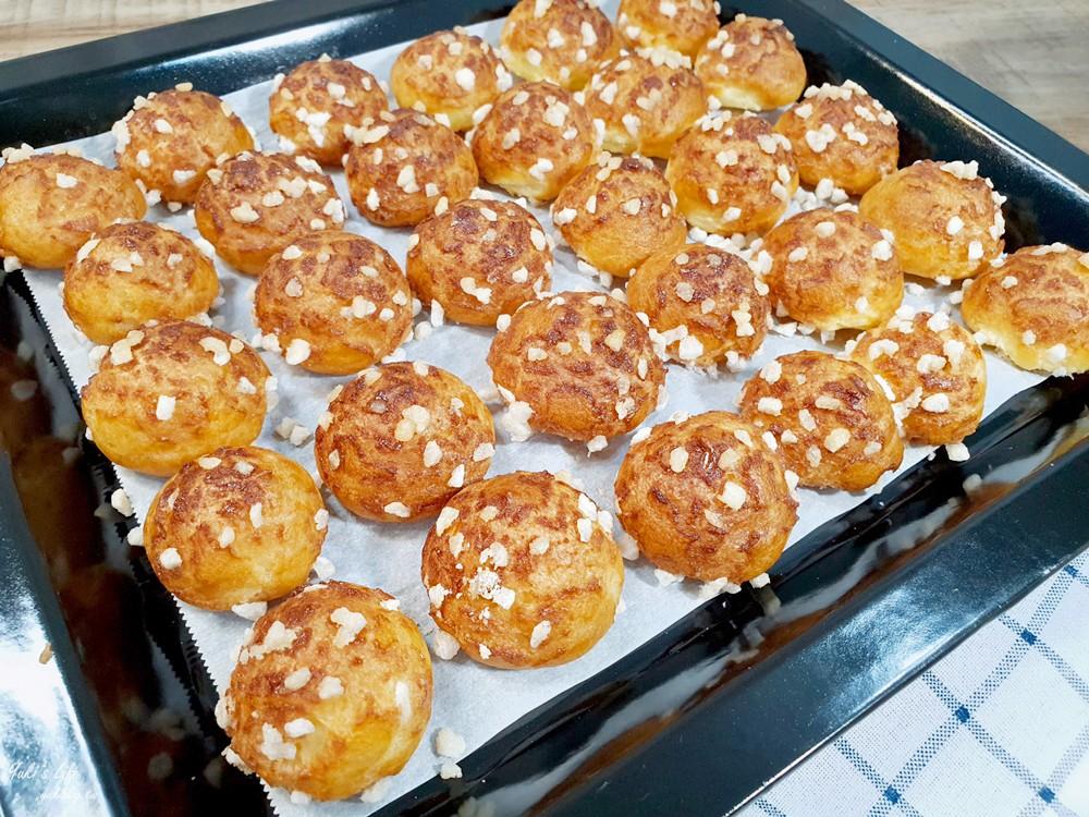 簡單食譜》珍珠糖泡芙作法~華麗小泡芙步驟 不需打發 1小時內完成 - yukiblog.tw