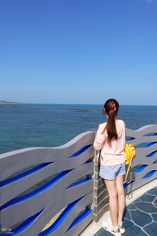 新!三芝看海景點「芝蘭公園海上觀景平台」藍色大海波浪設計就像走進海上 - yukiblog.tw