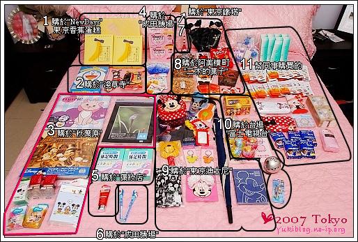 [2007東京見]*戰利品大公開 - yukiblog.tw