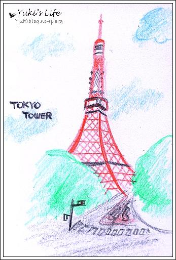 [手繪]色鉛筆初驗:2007東京 - yukiblog.tw