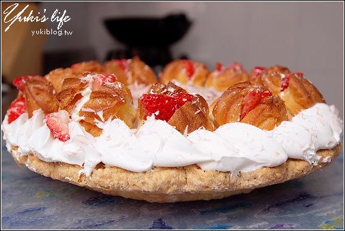 [團購美食]*美麗又美味の薔薇派 (草莓泡芙&堤拉米蘇) - yukiblog.tw