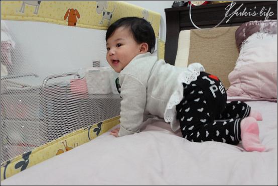[育兒敗家]*Babybabe加長加高安全床護欄 & 防蚊門簾
