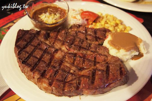[淡水三芝_食]*邊界驛站 ~ 比臉還大的24oz頂級沙朗牛排! (要吃得提早預約才有位子喲!) - yukiblog.tw