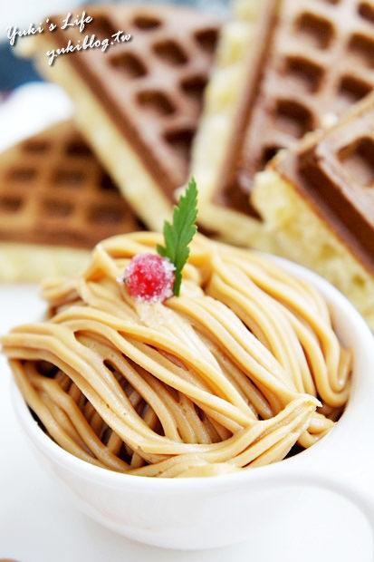 [板橋_食]*《大遠百》跳舞香水Cafe ~❤ 黑金巧克力蜜糖吐司~❤戀奶花生鬆餅~❤照燒雞肉三明治 - yukiblog.tw