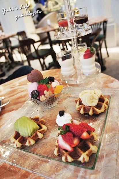 [板橋_食]*《大遠百》Glacio比利時創意冰品咖啡館❤比利時巧克力冰淇淋❤真橙意❤列日鬆餅雙享宴