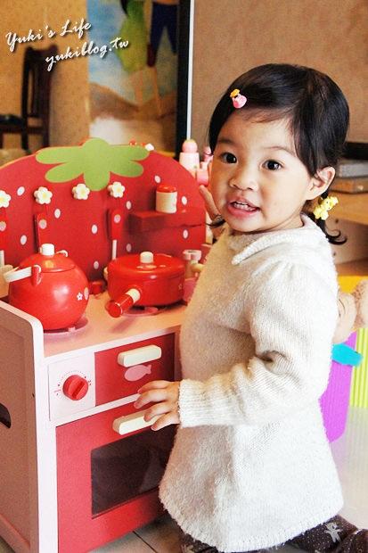 [育兒敗家]*Mother Garden甜美木製草莓造型廚房家家酒組❤一起來煮飯飯吧❤