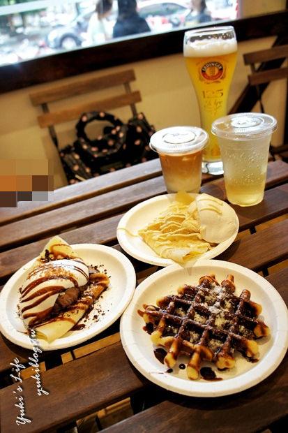 [中和_食]*【YELLOWHITE 黃白小屋‧德國小吃】好吃的鬆餅+薄餅 - yukiblog.tw