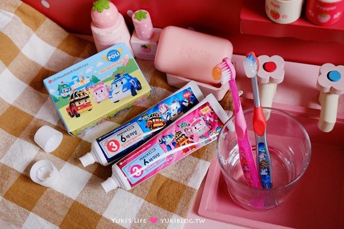育兒好物【韓國倍麗兒POLI波力】救援小隊兒童牙膏、V型潔牙兒童牙刷~守護兒童的牙齒健康