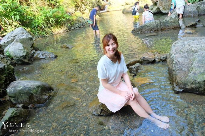 宜蘭景點【礁溪猴洞坑瀑布】消暑清涼秘境×小魚咬腳皮趣!