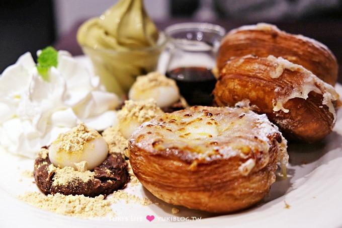 台北車站【瓦法奇朵Waffogato】焗烤蜜糖可頌甜甜圈新上市×主餐買一送二
