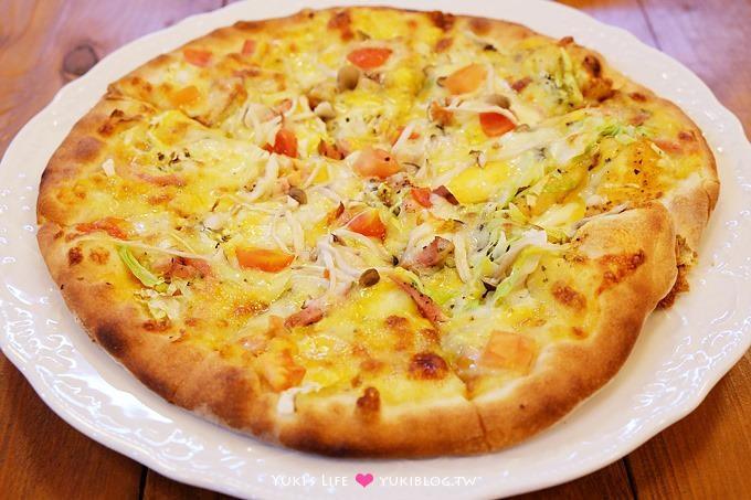 新竹食記【幸福味蕾柴燒窯烤披薩】清淡到不可思議的平價pizza