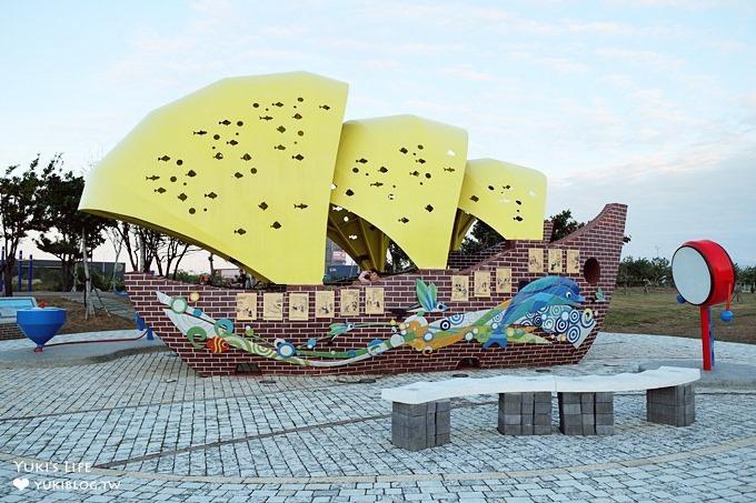 台中免費親子景點【梧棲頂魚寮公園】鯨魚溜滑梯×3D海洋立體彩繪×兒童迷宮花園~打卡野餐好去處 - yukiblog.tw