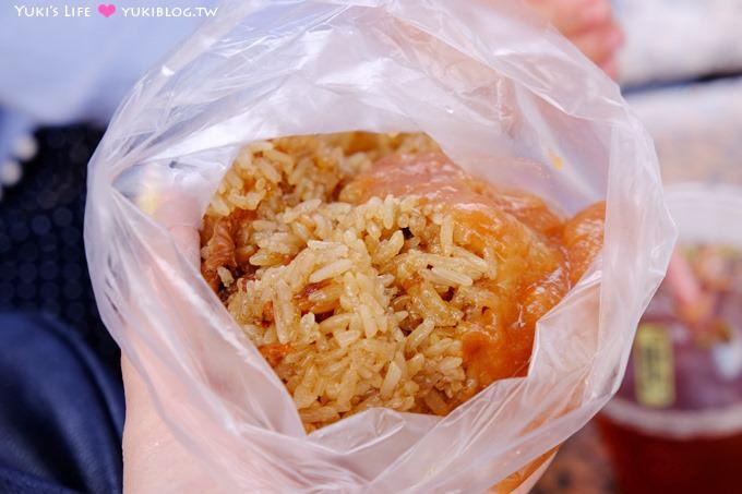 士林美食【蔣媽油飯】15元大份量彈Q古早味油飯!一吃上癮 ❤ 士林捷運站1號出口旁
