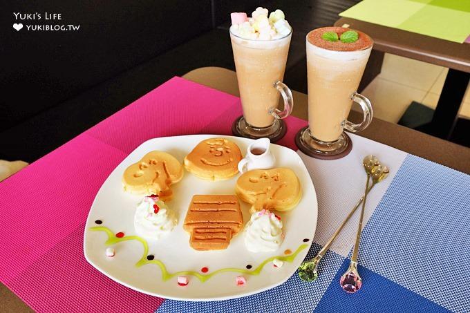 新莊美食【綠光森林早午餐】史奴比鬆餅非常吸睛×媽媽風格料理系餐廳 - yukiblog.tw