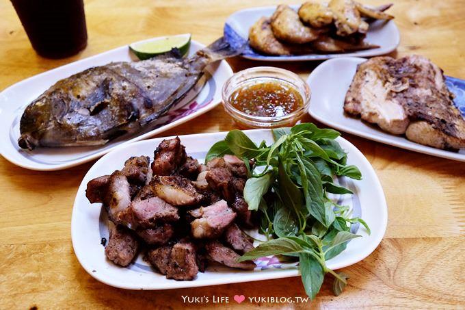 花蓮美食┃宵夜良伴〈米噹泰式碳烤〉烤魚烤肉都超讚! 〈摩利東山鴨頭〉甜而不膩!