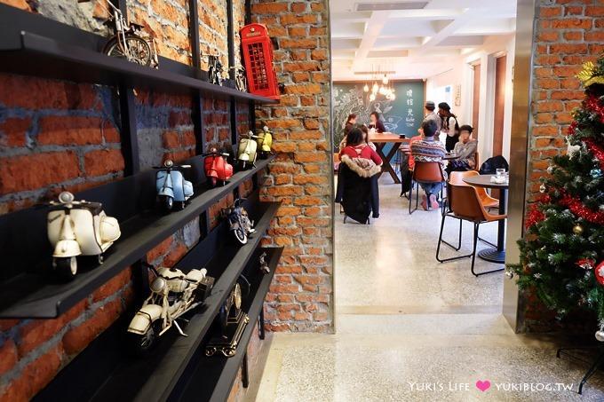 高雄【Kafe Time啡拾光.美學角落88號】郵戳彩繪屋咖啡館、早午餐 - yukiblog.tw