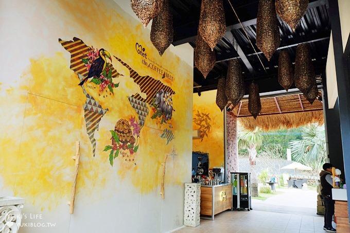 新竹竹東庭園咖啡【莫內咖啡】峇里島南洋風景觀餐廳×親子與車聚熱門餐廳 - yukiblog.tw