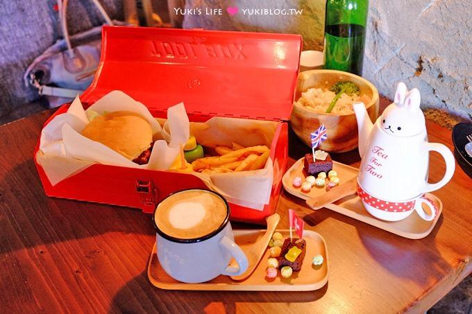 台北【TankQ Cafe & Bar】手提工具箱早午餐新菜單、漢堡好吃、美式工業風格@松江南京站