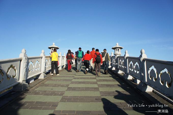 韓國濟洲島天地淵瀑布(仙臨橋、五福泉、天帝樓)