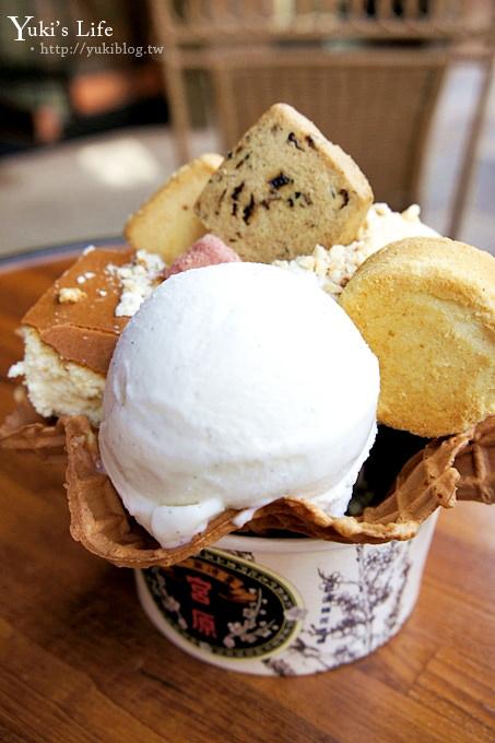 [台中美食]*宮原眼科吃冰淇淋 ~ 加蛋糕、鳳梨酥、餅乾.滿滿一碗好豐富!