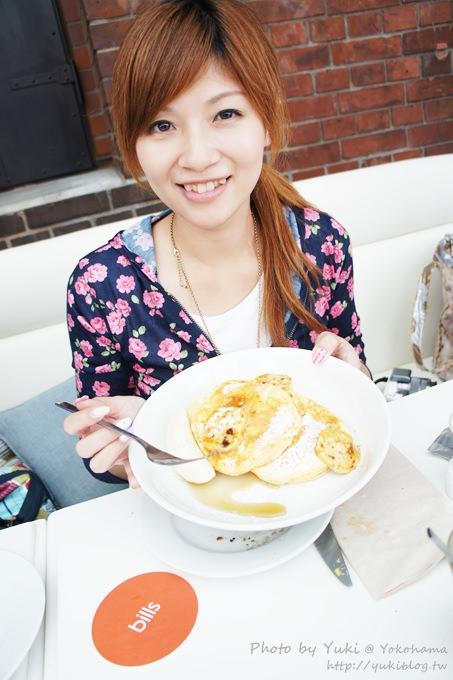 2013日本┃橫濱‧紅磚倉庫《bills》世界第一好吃的早餐鬆餅 (起司鬆餅佐香蕉×法式炒蛋烤吐司)