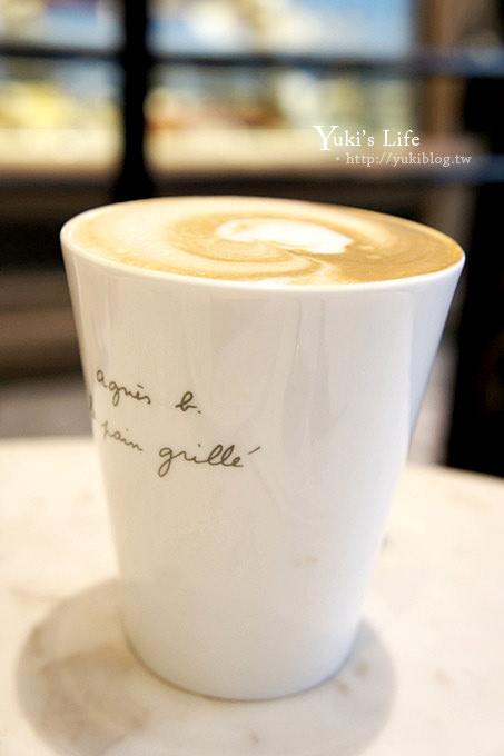 台北下午茶┃agnes b.cafe L.P.G ● 統一阪急百貨店 & BELLAVITA 寶麗廣場熱氣球 by yukiblog.tw