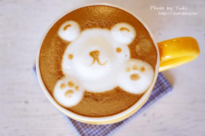 高雄食記┃『here 底加』●立體大白熊拉花黑糖牛奶 &立體小熊拉花咖啡 (也提供不同圖案拉花) - yukiblog.tw