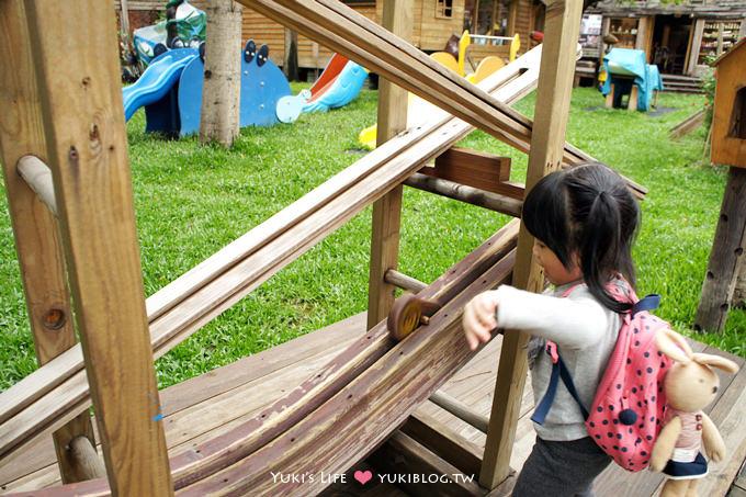 台中親子景點【老樹根木工坊】恐龍溜滑梯木頭樂園×放大版木作玩具❤好喜歡彈珠小驚喜 - yukiblog.tw
