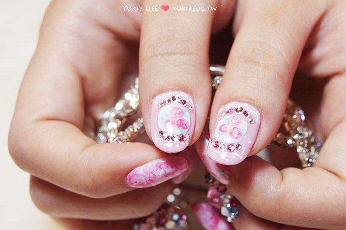 美甲光療繽紛粉色豹紋愛心